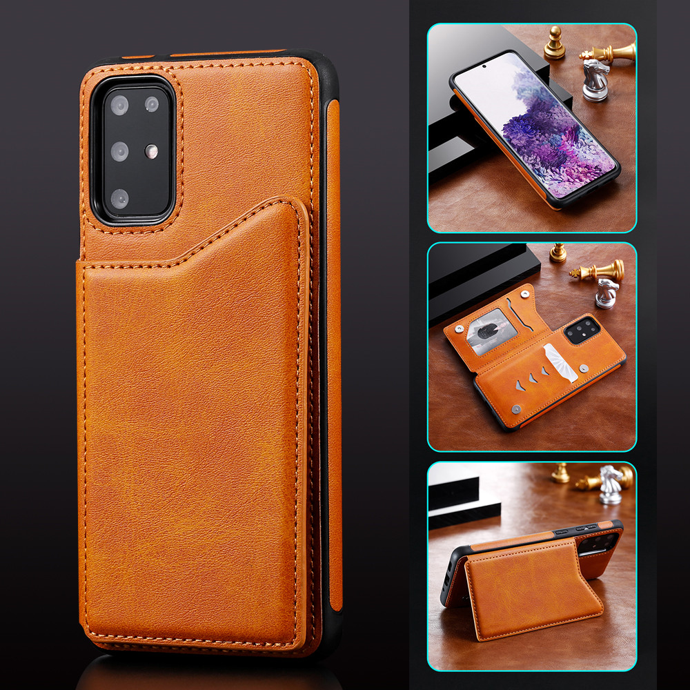 FLYKYLIN Anti-fall Leather Case For Samsung Galaxy S20+ Note 10 Plus A50 S20 Ultra S8 S9 S10 Plus S10E <font><b>S105G</b></font> Note 9 Wallet Cover image