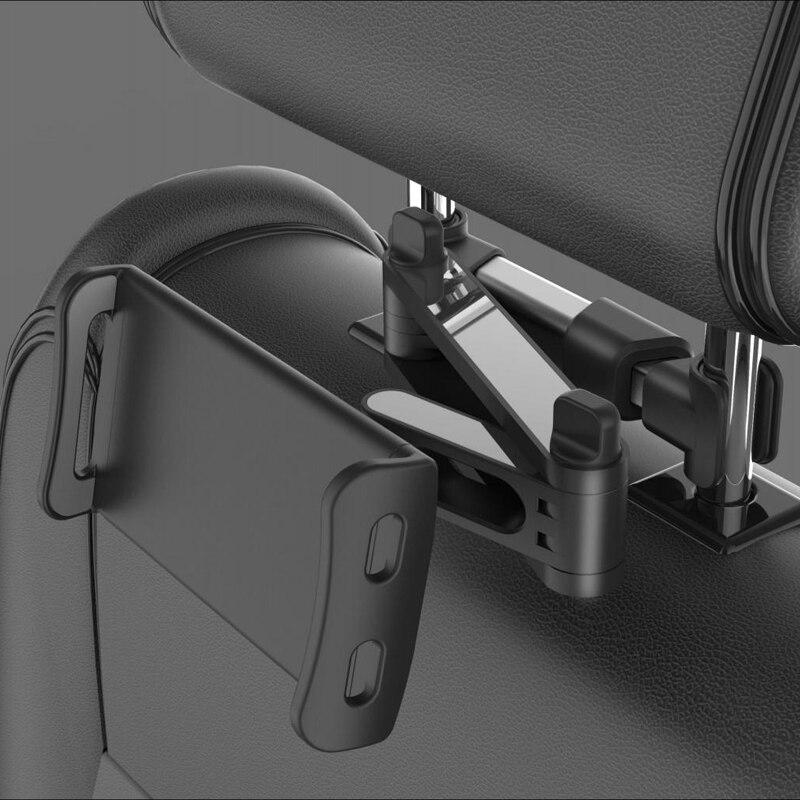 Suporte de telefone flexível 360 graus, suporte para parte traseira de banco de carro, 5-11 polegadas, para celulares e tablets