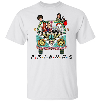 Hippie Car Friends Movie Horror Movie Characters Halloween T-Shirt White Men- Outfit Tee Shirt