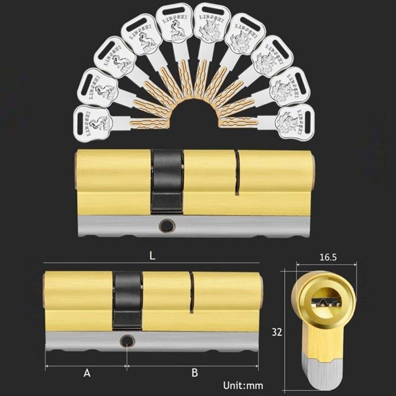 10 keys lock replacement C Grade Security entrance door lock cylinder