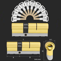 10 toetsen lock vervanging C Grade Beveiliging entree deurslot cilinder-in Slot cilinder van Woninginrichting op