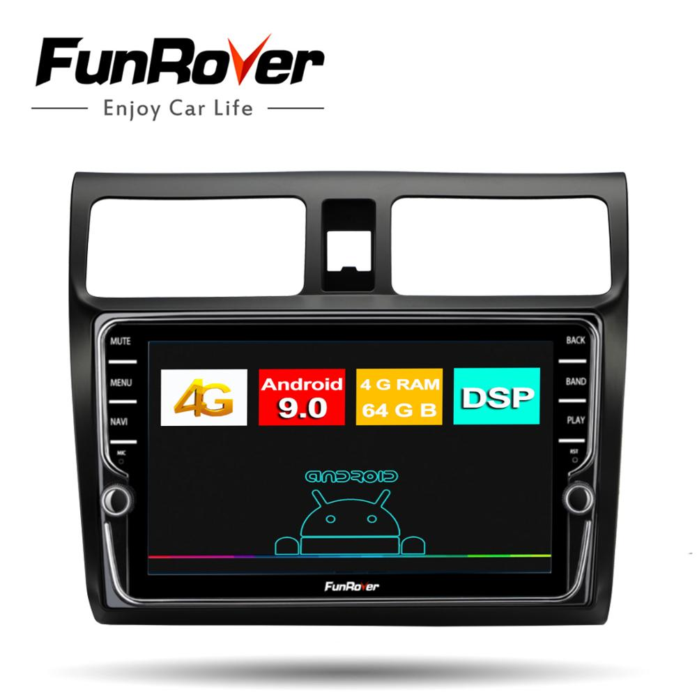 Funrover 8 core 4G+64G <font><b>Android</b></font> 9.0 DSP Car Radio Multimedia Player For <font><b>Suzuki</b></font> <font><b>Swift</b></font> 2005 2006 2007-2010 Navigation GPS 2 din dvd image