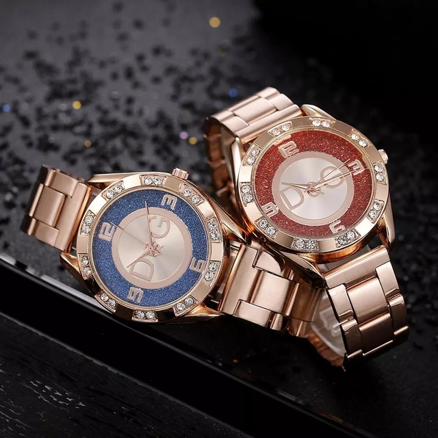 Women's Watches New Famous Luxury Brands Women Watch Fashion Rhinestone Stainless Steel Quartz Ladies Wristwatches Reloj Mujer 6