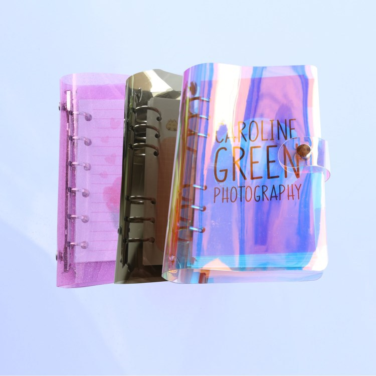 1Pc Transparent Pvc Plastic Clip File Folder A5/A6/A7 Notebook Loose Leaf Ring Binder Planner Agenda School Office Supplies