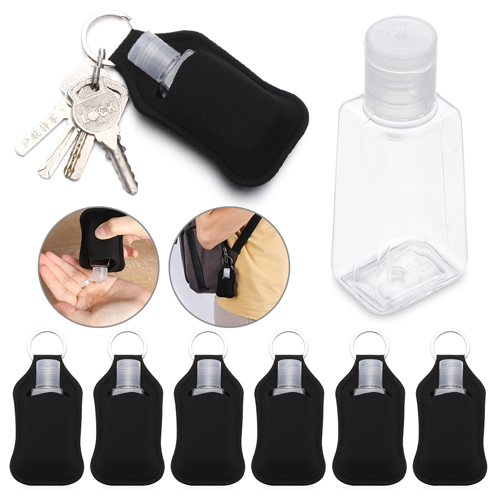 1/3Pcs Mini Portable Hand Sanitizer Bottle Keychain Holder Empty Refillable Travel Bottles Flip Cap Soap Containers With Keyring|Refillable Bottles|   - AliExpress