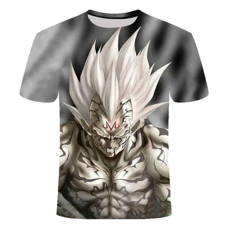 2019 Hot New Dragon Ball Z T Camicette del Ragazzo/ragazza di Estate di Modo 3D Stampa Super Saiyan Son Goku Nero zamasu Vegeta Drago T-Shirt