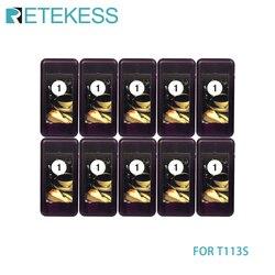 Retekess 10 pçs chamada coaster pager receptor para t113s restaurante sem fio sistema de filas chamada 433.92 mhz