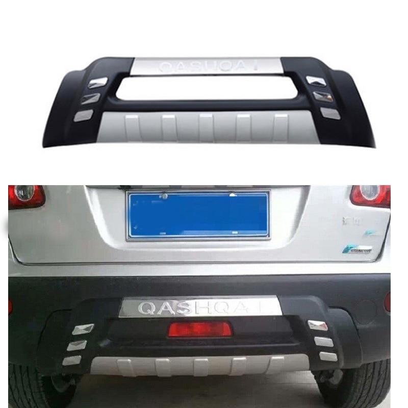 ABS Chrome arrière pare-chocs diffuseur pare-chocs lèvre protecteur garde plaque de protection pour NISSAN QASHQAI J10 2007 2008 2009 seuil de porte