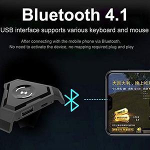 Image 3 - PUBG mobil Gamepad denetleyicisi oyun klavye fare dönüştürücü Android ios PC Bluetooth 4.1 adaptörü