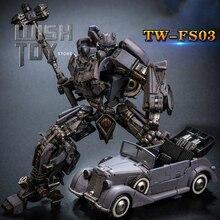 Figura de acción transformable Toyworld TW FS03 de la II Guerra Mundial, abeja grande, pintura antigua de aleación, colección de figuras de acción a escala SS, Robot, juguetes, modelo de coche