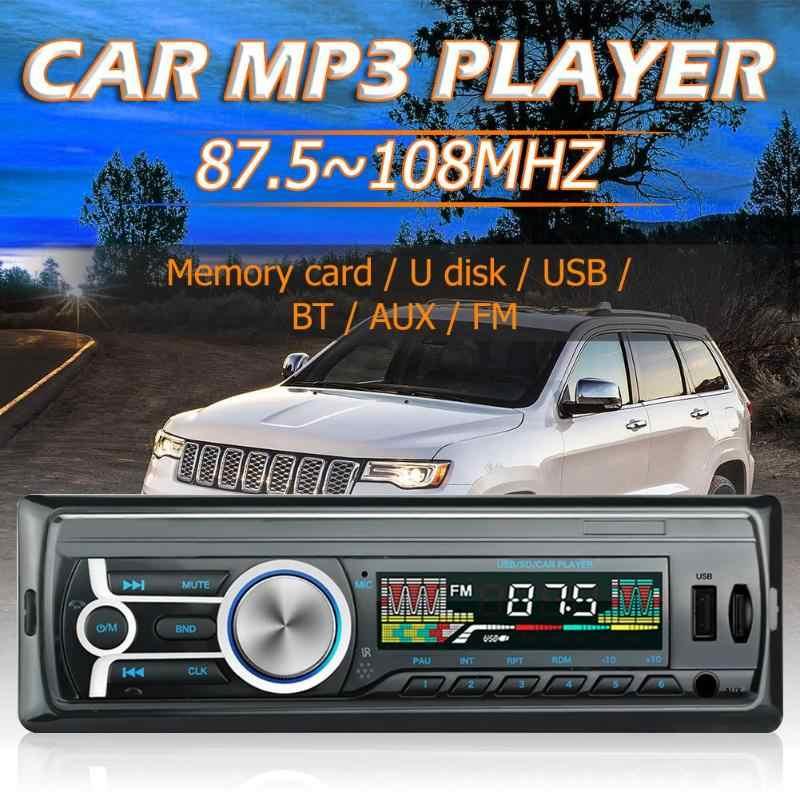 Radio samochodowe Autoradio 1 Din In-Dash Radio samochodowe stereo Radio samochodowe USB Radio FM Bluetooth zestaw głośnomówiący jednostka główna odtwarzacz muzyczny MP3