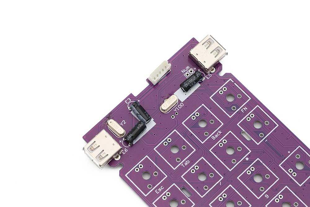 Kustom Keyboard Mekanik Kit 22 Tombol Mendukung Usb Hub Jenis Led Efek PCB 20% Keycool Numpad Multimedia Kunci