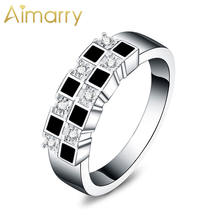 Aimarry 925 Стерлинговое Серебро в форме квадрата aaa циркон