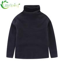 Littlespring водолазка Однотонный свитер 2020 Осень Зима Топы