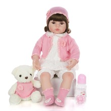 New size Girl Toys 60cm bebe Reborn Dolls Surprises silicone Baby Realistic Doll Reborn Vinyl Boneca Reborn Doll For Girls gift 22 inch baby reborn doll toys full body soft silicone vinyl non toxic safe realistic bebe newborn doll toys best gift for girls
