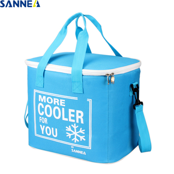 SANNE 21L Large capacity solid color cooler bag thermal insulated thermal bag waterproof portable cooler box insulated ice pack sanne 25l large capacity plain color portable thermal coole bag for food famous brand waterproof thermal cooler insulated