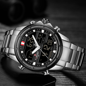 Image 4 - NAVIFORCE Luxury Mens Watch full steel Military WristWatch Digital Sports Watches Men Waterproof Quartz Clock relogio masculino