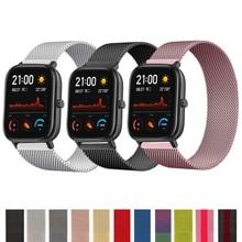 20mm 22mm Milanese watchband Amazfit gts Bip Gtr 42mm 47mm Samsung galaxy izle 3 45mm 46mm aktif 2 huawei izle gt2 kayışı