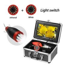 Рыболовная камера 7,0 дюйма 15 м 1000TVL подводный рыболокатор 12 шт. инфракрасный+ 12 шт. белый светодиод лампа эхолот для рыбалки