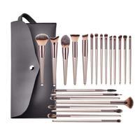 22 stücke Champagne Make-Up Pinsel Kit Concealer Pulver Erröten Lidschatten Lip Kabuki Blending Pinsel kosmetische Schönheit Pinsel Werkzeug