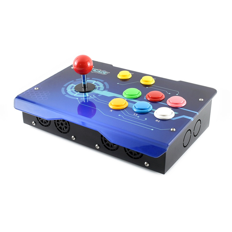 Game-Controller Arcade-Joystick Raspberry Tv-Fighting 3B USB Pi Rocker with Hdmi-Output