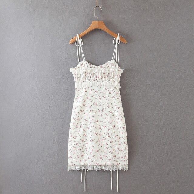 Summer mini Dress string strap and adjustable bottom 2