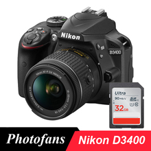 Nikon D3400 DSLR Camera with Nikkor AF-P 18-55mm Lens -24.2MP  -Video  -Bluetooth   (Brand New)