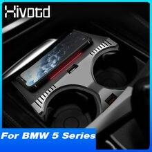 Hivotd QI 15W Auto Drahtlose Ladegerät Innen Zubehör Schnelle Telefon Lade Platte Modifikation Für BMW 5 Series G38 G30 2018-2021
