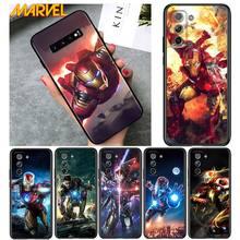 Iron Man Marvel hero for Samsung Galaxy S21 Ultra Plus Note 20 10 9 8  S10 S9 S8 S7 S6 Edge Plus Soft Black Phone Case