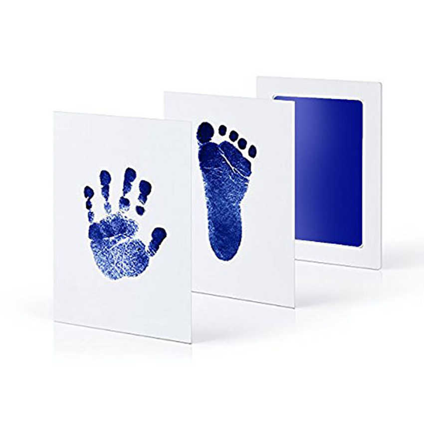 2 pièces/lot unisexe bébé Non-toxique empreinte digitale empreinte Kit bébé Souvenirs coulée nouveau-né empreinte tampon encreur infantile argile jouets