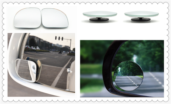 Auto parts small round mirror car rearview mirror blind spot wide-angle lens for BMW E46 E39 E38 E90 E60 E36 F30 F30 image