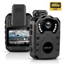 BOBLOV WN10 1080P HD cuerpo cámara portátil IR visión nocturna policía Cámara 175 grados seguridad 64GB Mini cámara DVR Video grabadora
