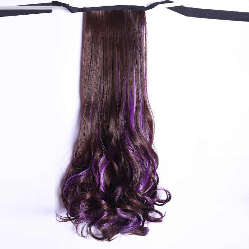 LUPU Wig ponytail women's long curly hair big wave dye long hair braid natural strap wig women's high ponytail