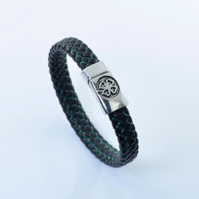 Braided Leather Bracelet...