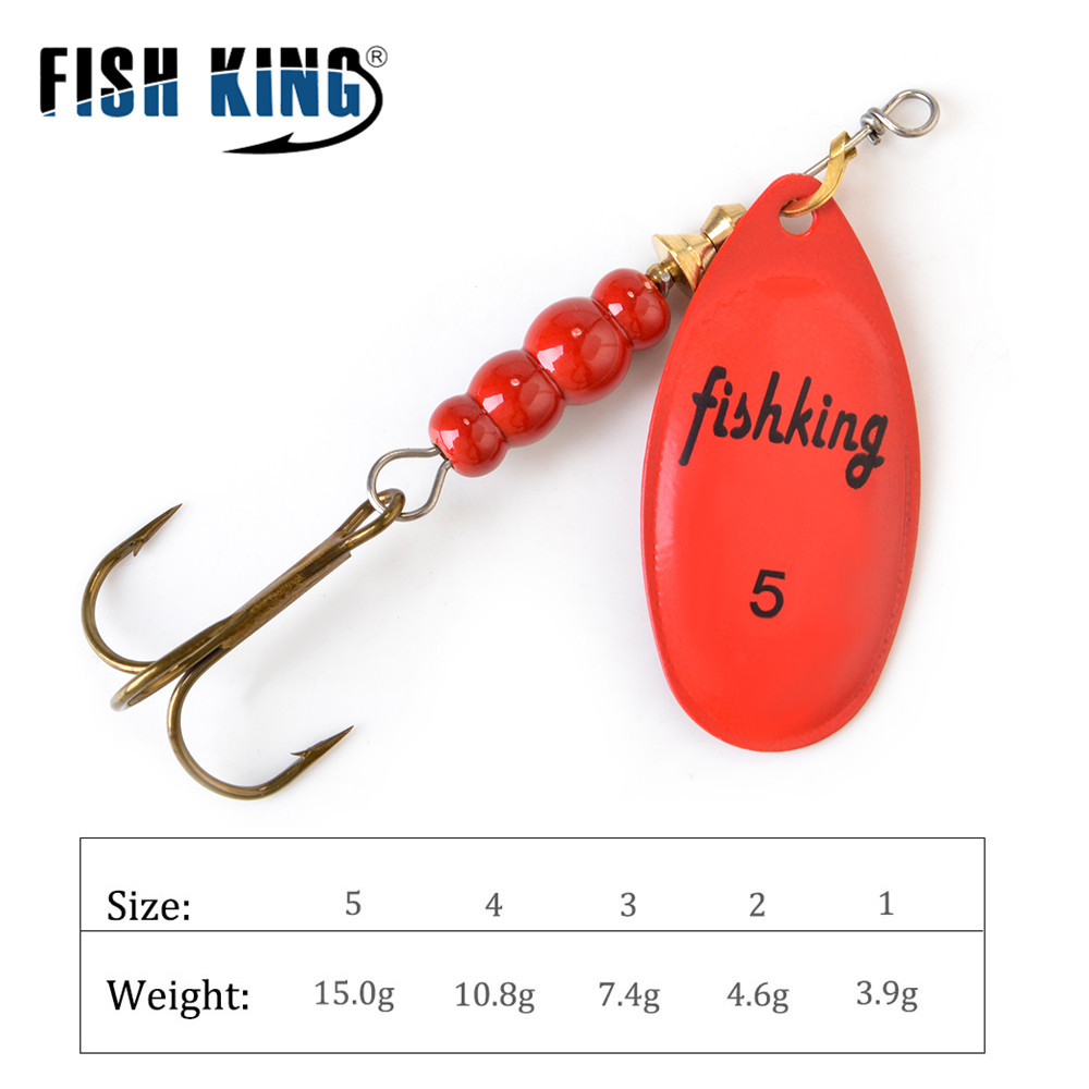 FISH KING Spinner Bait Spoon Lures  3