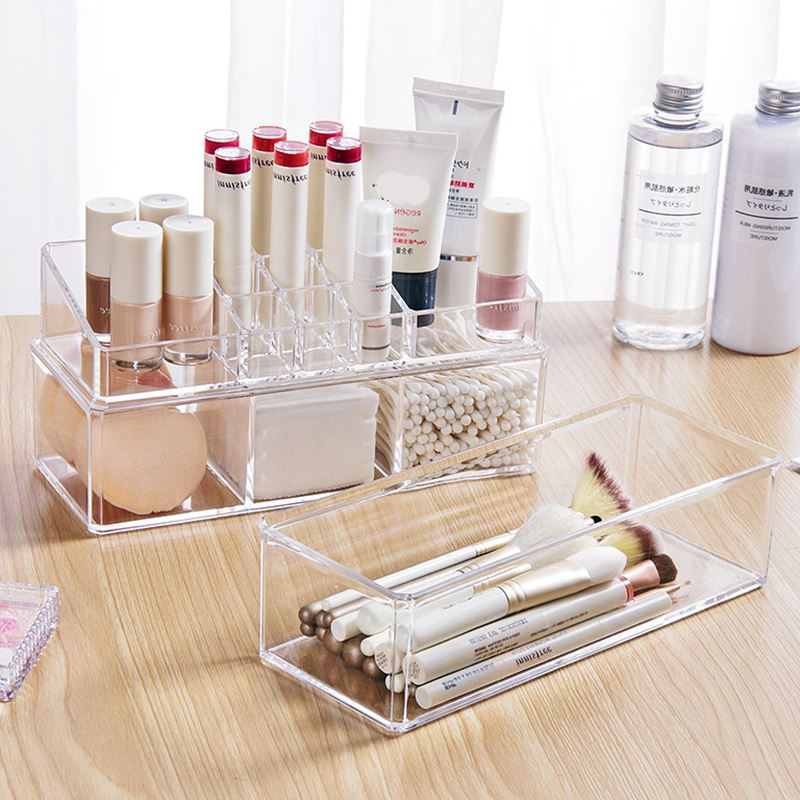 Portable and Transparent Makeup Organizer with Compartments of 18 Grids made of Acrylic for Storage of Beauty Products 3
