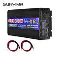 SUNYIMA Чистая синусоида Инвертор DC12V/24 V к AC220V 4000W Двойной цифровой дисплей усилитель конвертера мощности для автомобиля солнечный инвертор