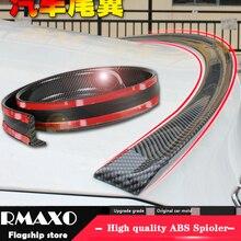 Универсальный спойлер на крыше 1,5 м автомобильный Стайлинг 5D задний спойлер из углеродистой резины PU пайка DIY спойлер подходит для всех типо...