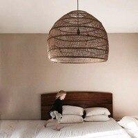 Rattan Lamp Chinese Pendant Light Vintage Hanging Lamp Home Decor Living Room Dining Room Indoor Lighting Industrial Lighting