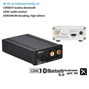 Rozmiar (mm):W63 H25 L99 entuzjastyczny samochód rodzinny BT10 CSR8675 5.0 odbiornik audio Bluetooth LDAC ES9018 dekoder hi-fi