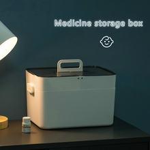 Большой двухслойный бытовой шкаф для хранения лекарств разделенный