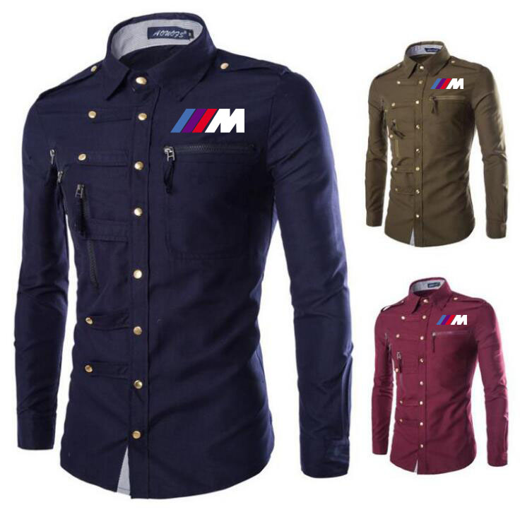 Men's Polo Shirt For Bmw M1 Printed T Shirt Summer Lapel Mens Long Sleeve Casual Fashion Cotton Long Sleeve Male Tops Cloth