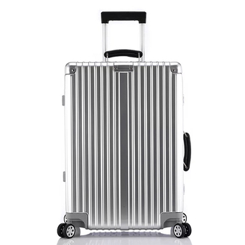 цена на 202426 29 inch 100% aluminum spinner retro travel suitcase luxury brand trolley rolling luggage for traveling