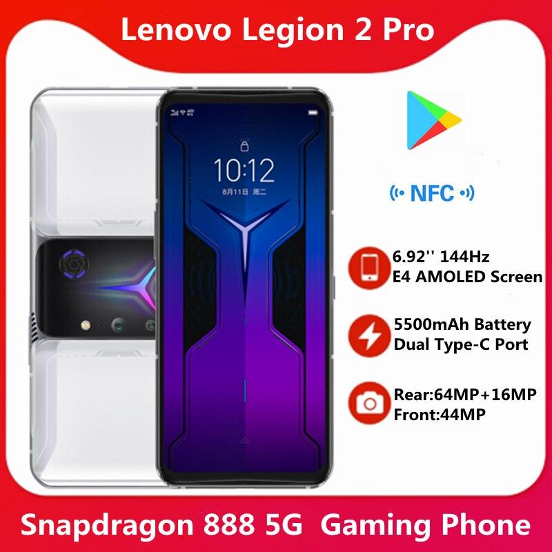 18 ГБ 512 в наличии сейчас глобальная прошивка Lenovo Легион 2 Pro 5G игровой телефон 6,92 ''140 Гц активно-матричные осид, E4 экран 5500 мАч Snapdragon 888 NFC