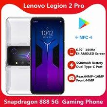 Globalny Rom opcjonalny Lenovo Legion 2 Pro 5G telefon do gier 6.92 ''1400Hz AMOLED E4 ekran 5500mAg bateria Snapdragon 888 NFC Google