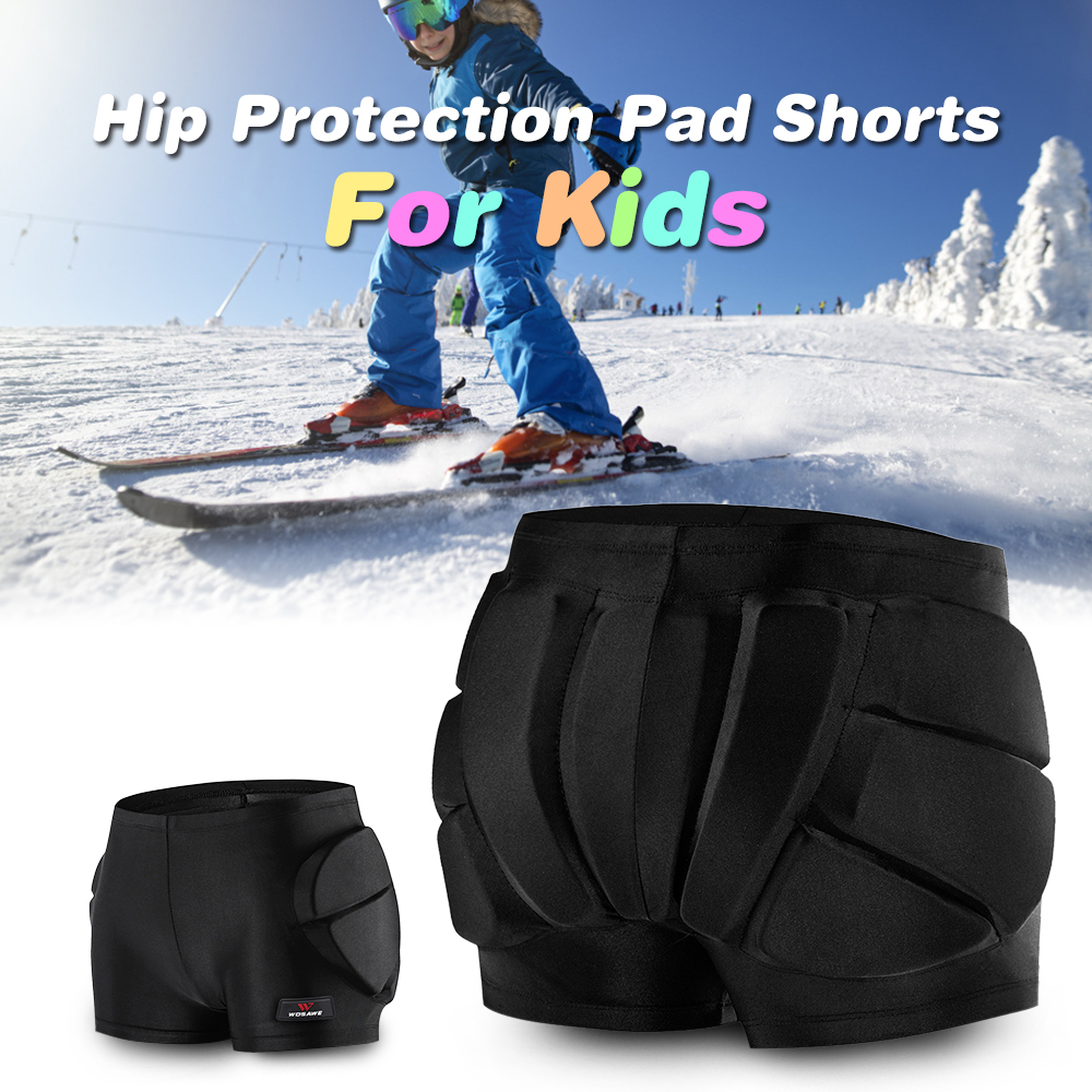 Kids Hip Protective Bottom Shorts  Hip Padded For Hip Butt Tailbone Skating Skiing Snowboarding Impact Protection Outdoor Sports