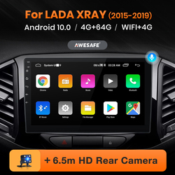 AWESAFE PX9 for Lada X ray Xray 2015-2019 Car Radio Multimedia video player GPS 4G wifi 2 din Android 10.0 2GB+32GB