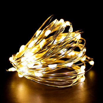 Tira de luces LED de 1-3M, guirnalda de luces de hada blanca...