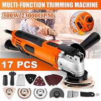 300W 220V Variable Speed Electric Multifunction Oscillating Tool Kit Multi Tool Power Tool Electric Trimmer Saw Accessories Tool
