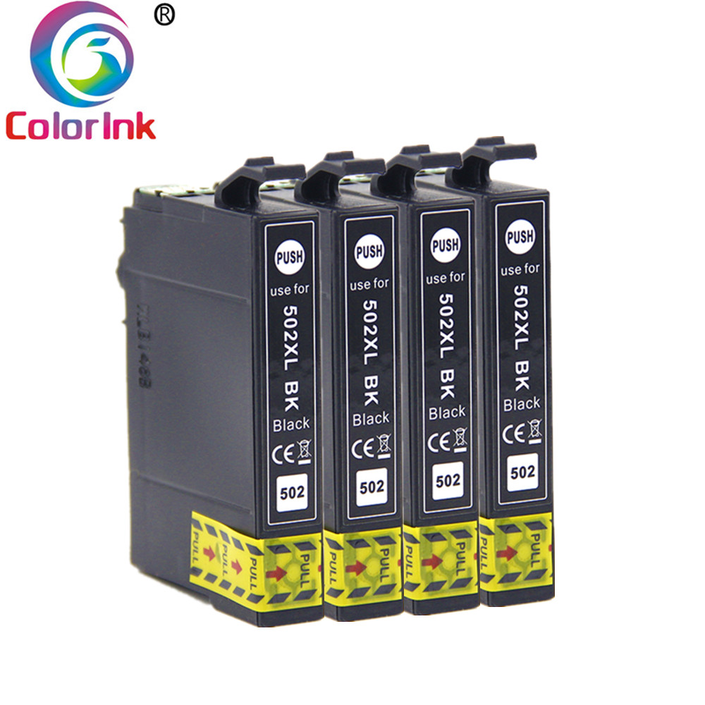 ColoInk Ink For Epson 502XL T502XL 502 Black Ink Cartridge For Epson Expression Home XP-5100 5105 2860DWF 2865D Print